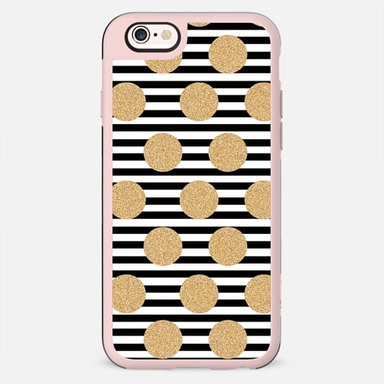 Glitter Dots and Black Stripes - New Standard Case