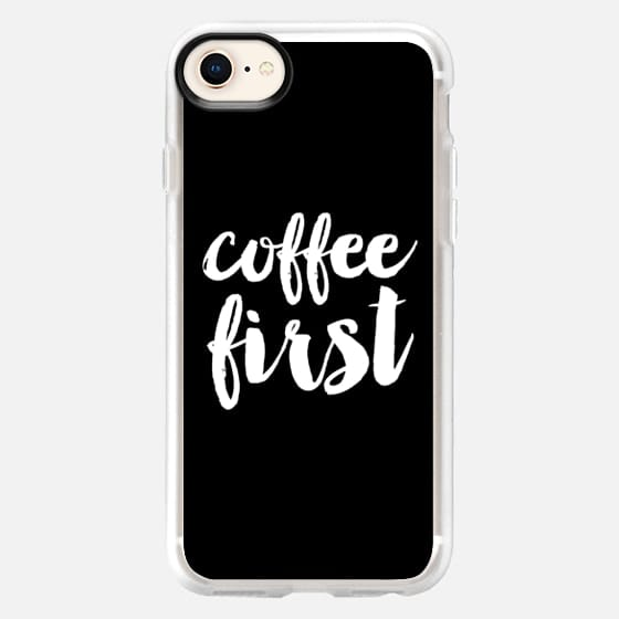 coffee first - Black - Snap Case