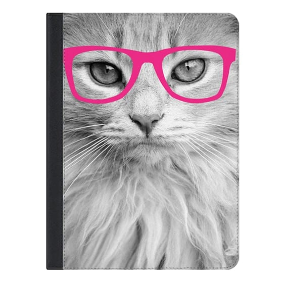 9.7-inch iPad Pro Covers - Hippest Cat Pink