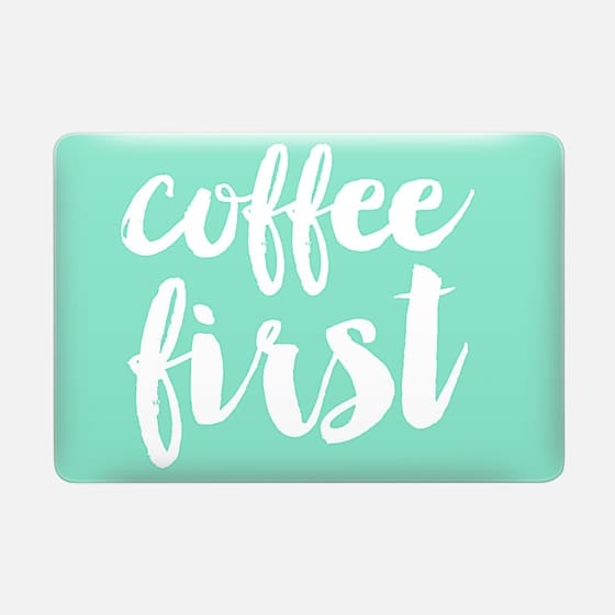 coffee first - mint -
