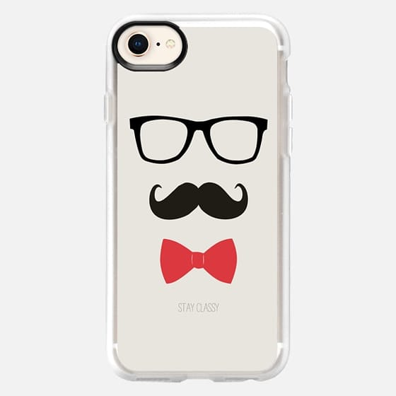 STAY CLASSY MUSTACHE AND BOW TIE - Snap Case