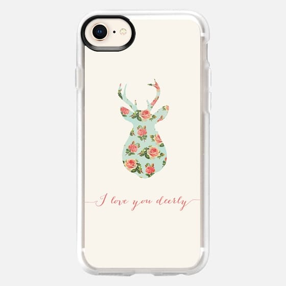 FLORAL I LOVE YOU DEERLY - Snap Case