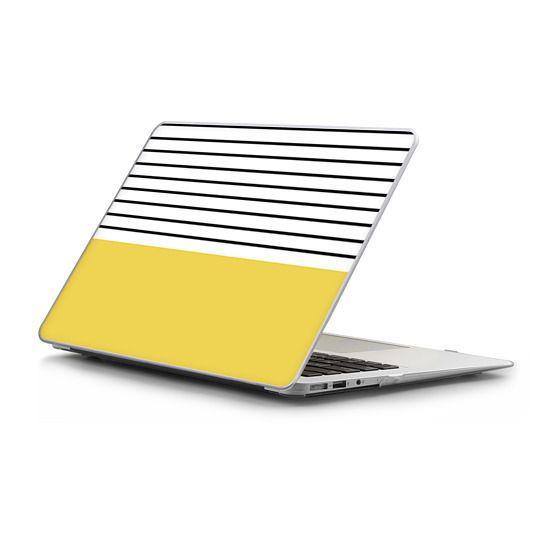 MacBook Air 13 Sleeves - Minimal stripes - chartreuse
