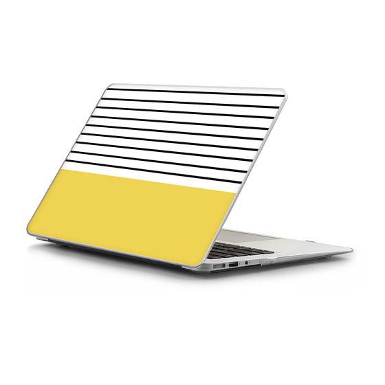 MacBook Air 11 Sleeves - Minimal stripes - chartreuse