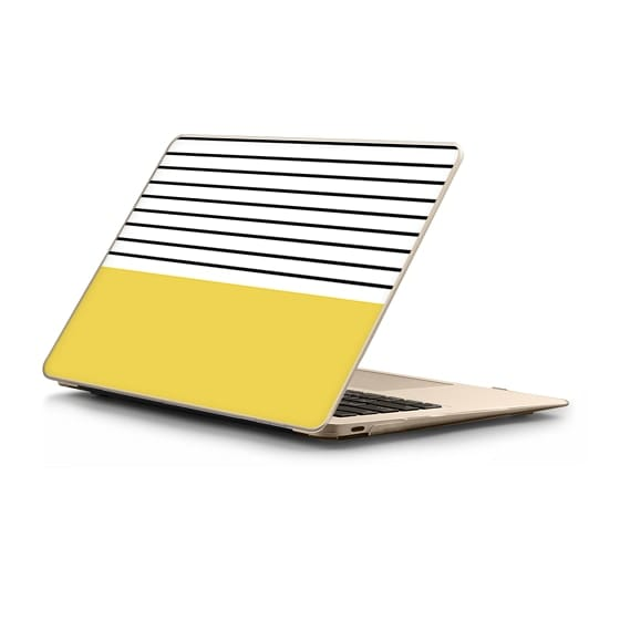 MacBook 12 Sleeves - Minimal stripes - chartreuse