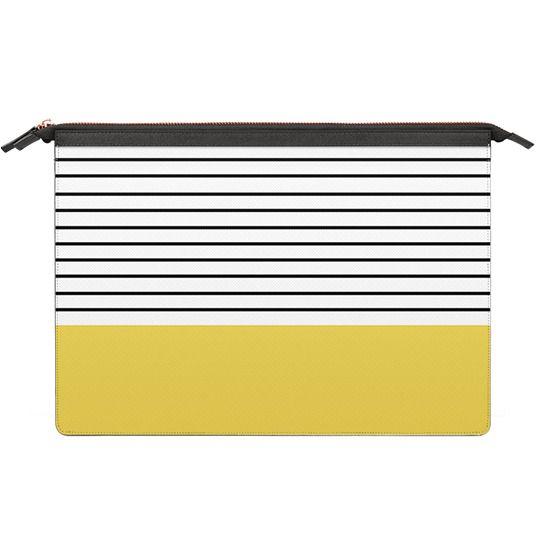 MacBook 12 Sleeves - Minimal stripes - chartreuse
