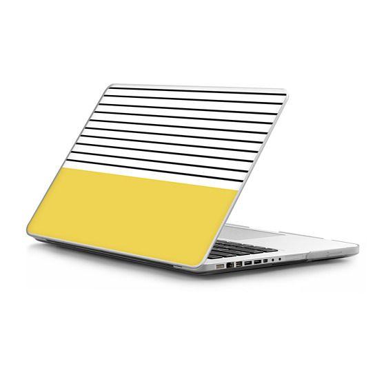 MacBook Pro 13 Sleeves - Minimal stripes - chartreuse