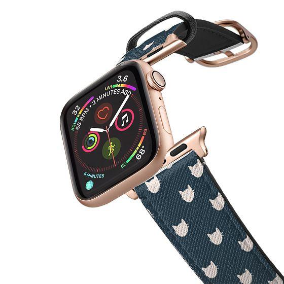 Apple Watch 42mm Bands - navy cat pattern