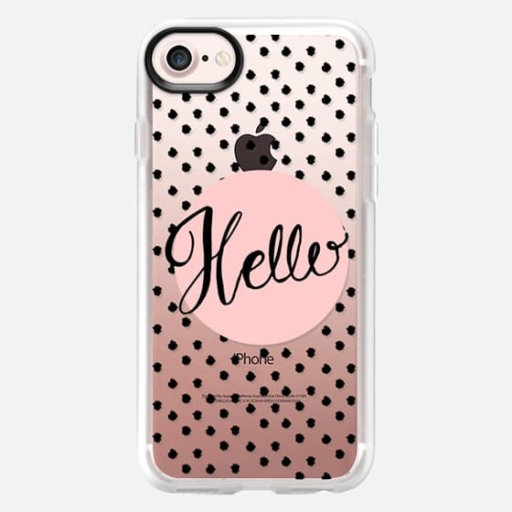 Hello - Pink and dots - Classic Grip Case
