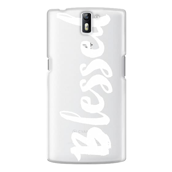 One Plus One Cases - Bold Blessed White