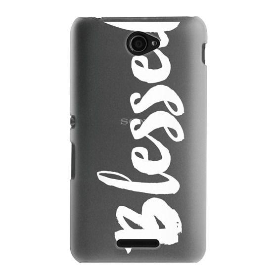 Sony E4 Cases - Bold Blessed White
