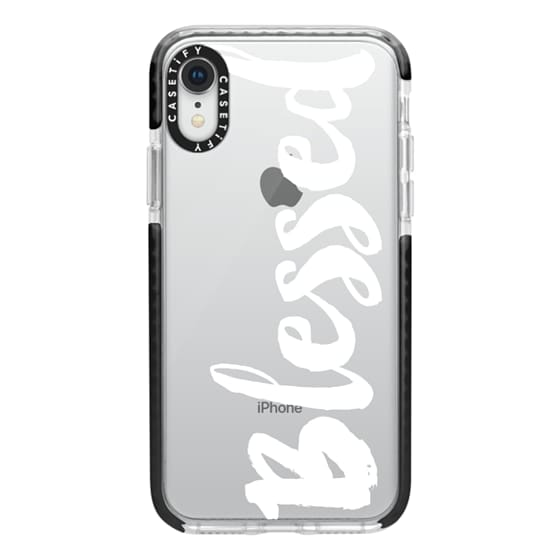iPhone XR Cases - Bold Blessed White
