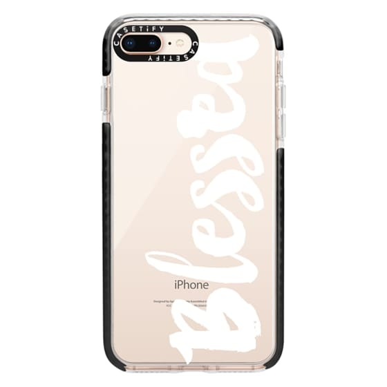 iPhone 8 Plus Cases - Bold Blessed White