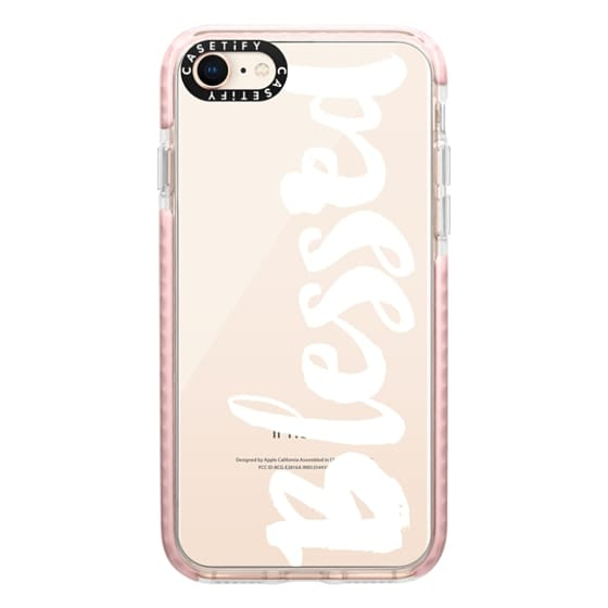 iPhone 8 Cases - Bold Blessed White