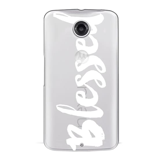 Nexus 6 Cases - Bold Blessed White