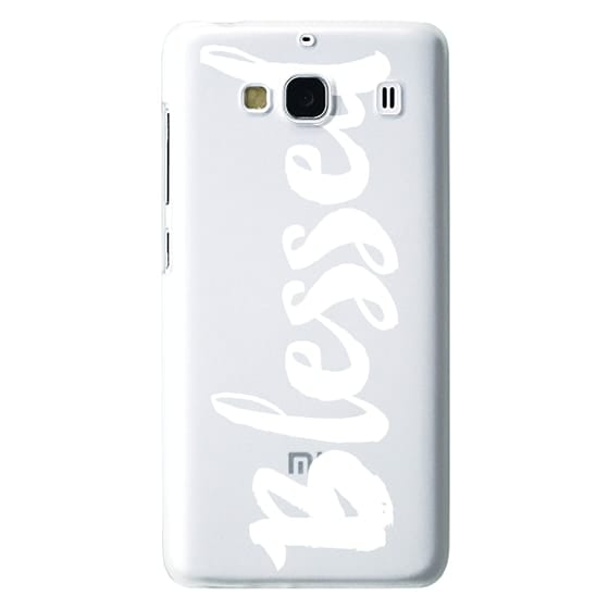Redmi 2 Cases - Bold Blessed White