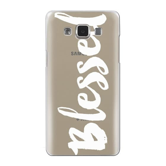 Samsung Galaxy A5 Cases - Bold Blessed White
