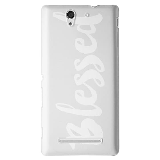 Sony C3 Cases - Bold Blessed White