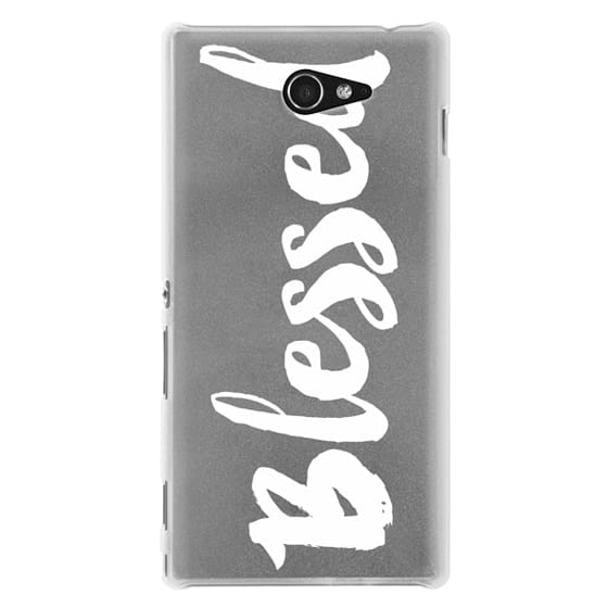 Sony M2 Cases - Bold Blessed White