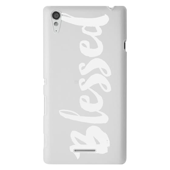Sony T3 Cases - Bold Blessed White
