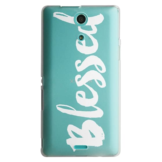 Sony Zr Cases - Bold Blessed White