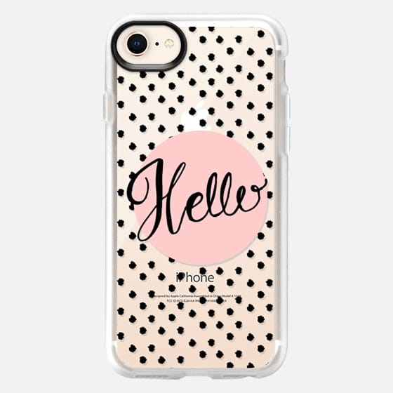 Hello - Pink and dots - Snap Case
