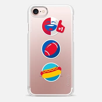 iPhone 7 Case Football Pepsimoji Trio