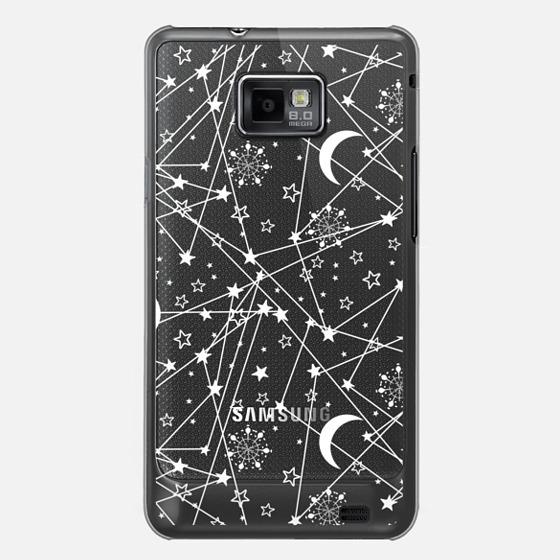 Sun moon stars white galaxy