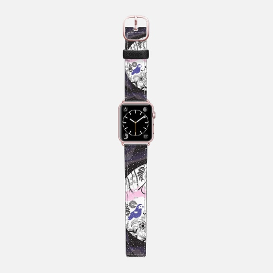 Nature in space - Saffiano Leather Watch Band