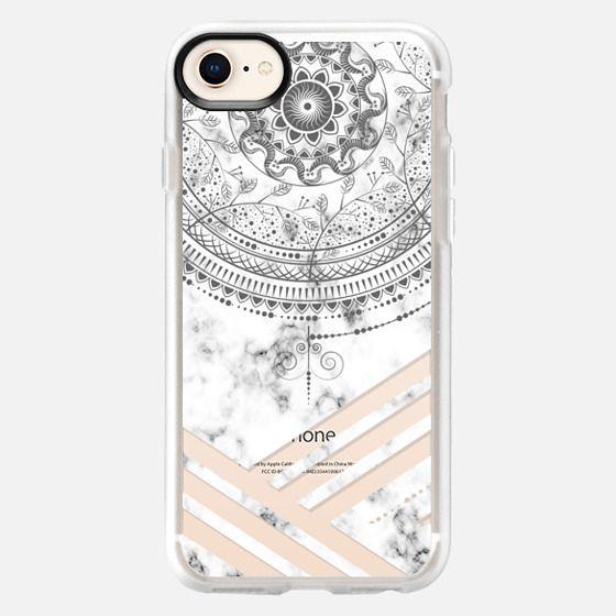 Marble mandala marble - Snap Case