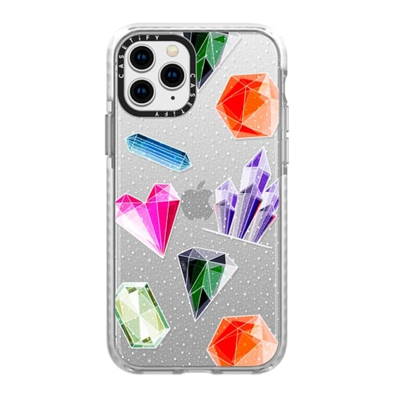 iPhone 11 Pro Cases - Crystals and Gemstones glitter