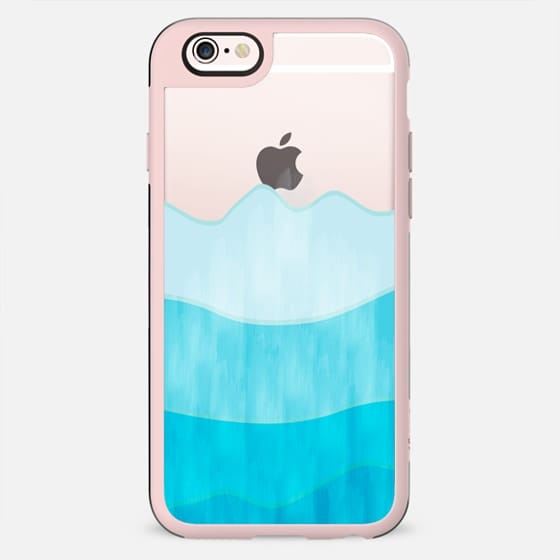 Ombre blue mountains - New Standard Case