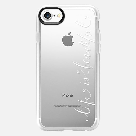 Life is Beautiful Calligraphy in white - Classic Grip Case