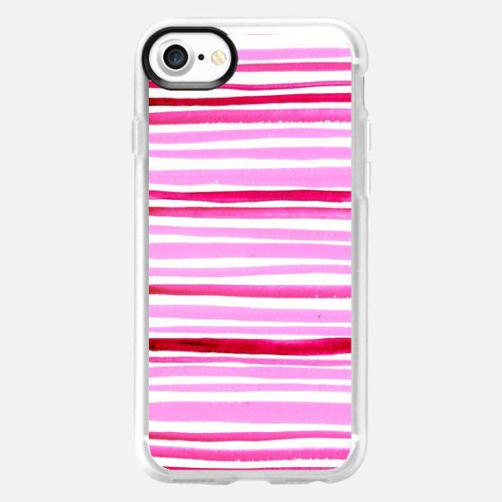 Watercolor Stripes - Classic Grip Case