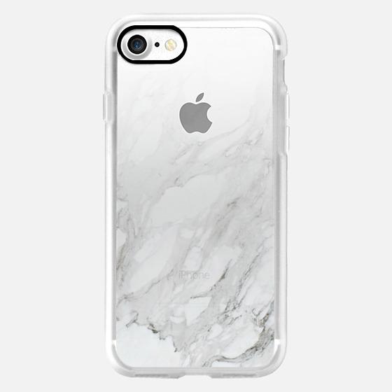 Marble Gradient White 3 Iphone 7 Case By Leeann Visser