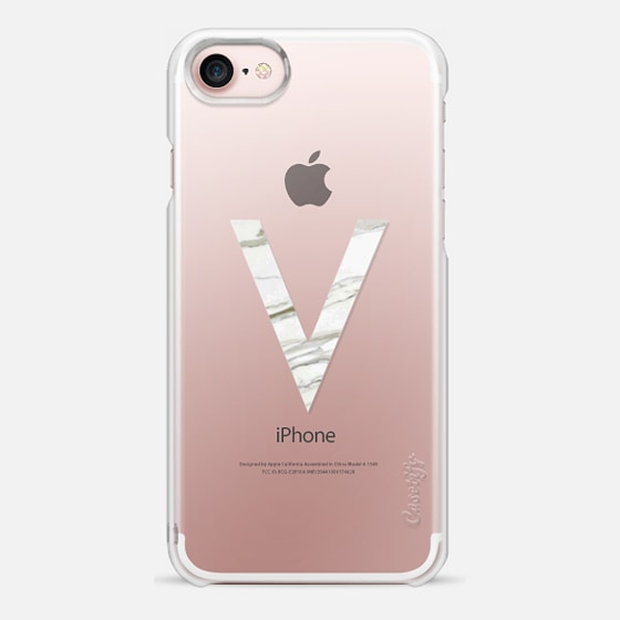 MARBLE INITIAL - V - Snap Case
