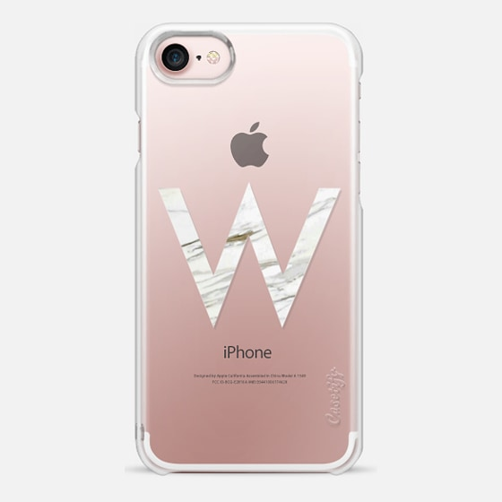 MARBLE INITIAL - W - Snap Case