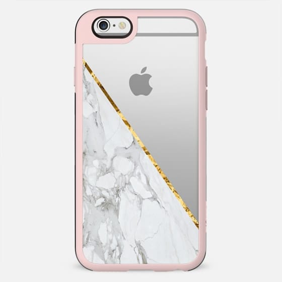 WHITE & GOLD MARBLE #1 - New Standard Case