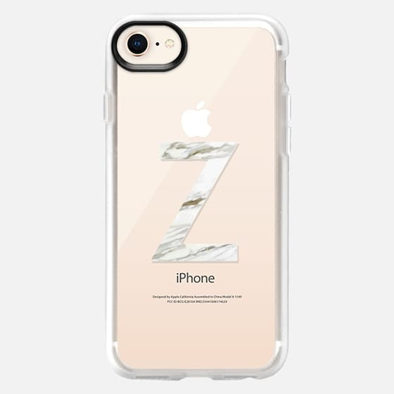 MARBLE INITIAL - Z - Snap Case