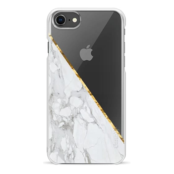 new arrival 3c357 000fc Snap iPhone 8 Case - WHITE & GOLD MARBLE #1