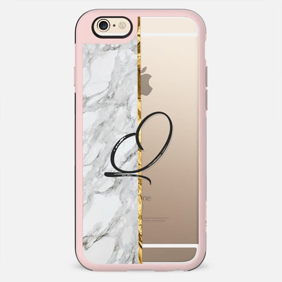 GOLD MARBLE INITIAL | Q - New Standard Case