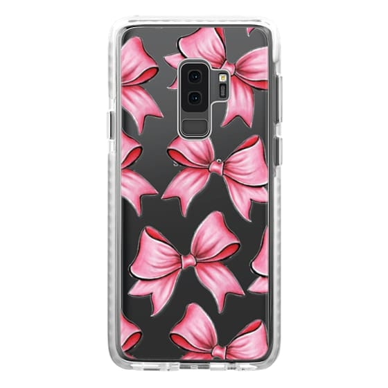 Samsung Galaxy S9 Plus Cases - TRANSPARENT PINK BOWS
