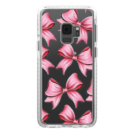 Samsung Galaxy S9 Cases - TRANSPARENT PINK BOWS