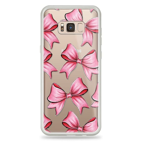 Samsung Galaxy S8 Plus Cases - TRANSPARENT PINK BOWS