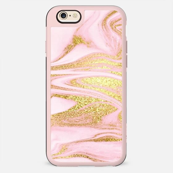 PINK & GOLD MARBLE #1