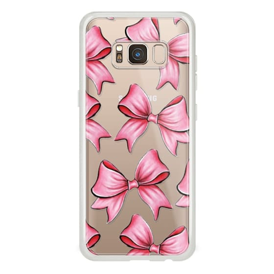 Samsung Galaxy S8 Cases - TRANSPARENT PINK BOWS