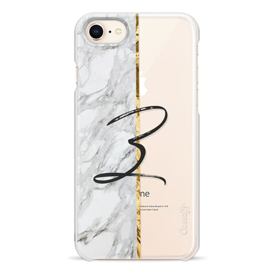 iPhone 7 Plus Cases - GOLD MARBLE INITIAL | Z