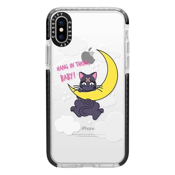 iPhone X Cases - Hang In There, Baby - Luna, Sailor Moon, Cat