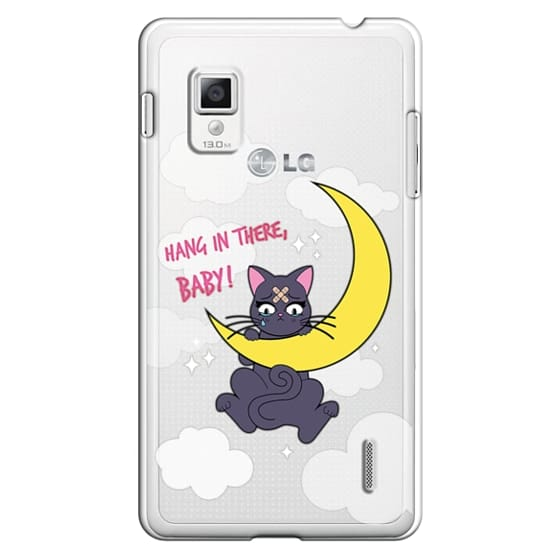 Optimus G Cases - Hang In There, Baby - Luna, Sailor Moon, Cat