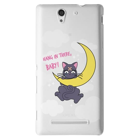 Sony C3 Cases - Hang In There, Baby - Luna, Sailor Moon, Cat